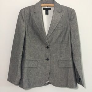 The Limited Linen Blend Gray 2 Button Blazer Small